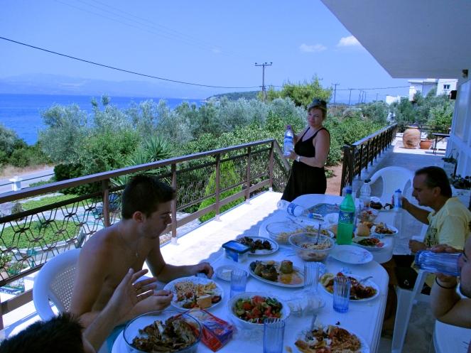 Eating like Kings at the Boukis residence