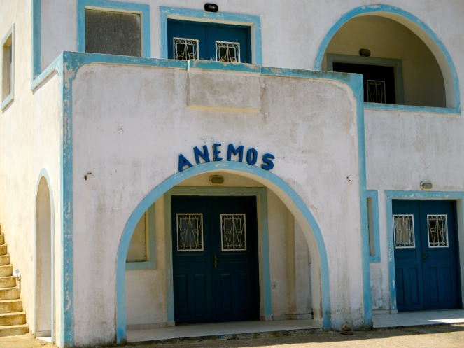 Shout out to Danny Staveris and my fellow Anemos dancers! this was the first building I saw after entering Santorini