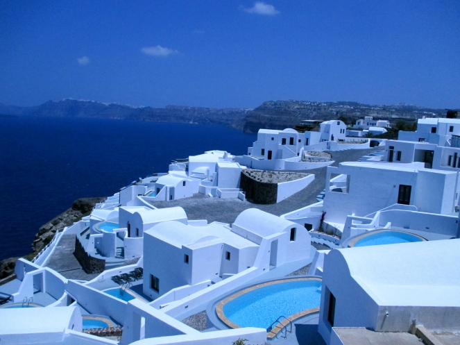 Santorini!! beautiful island, but im pretty bored here already so i'm thinking about cutting my trip early and heading to Mykonos either tomorrow or the day after