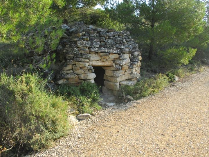 Stone hut i slept in last night...