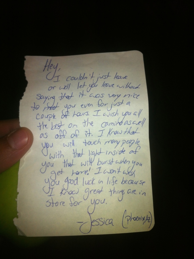 another amazing note left on my bag in the morning